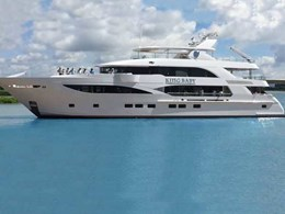 Yacht features Ezone Marine glass with DuraShield Marine interlayer for energy efficiency and comfort