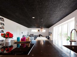 Troldtekt acoustic ceiling tiles transform home into a modern smart space