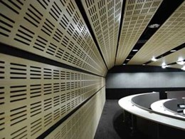 Slotted hoop pine veneer and MDF from Ultraflex meet aesthetic, acoustic and functional goals at UNSW building