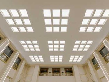 Ensemble acoustical ceiling system at Chancery House