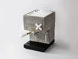 A coffee machine inspired by Brutalist architecture