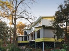 Unique rebuild of 1950s Melbourne home that 'floats on water'