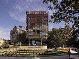 Building clusters and Blue Gum canopies in Woods Bagot's University of Sydney design