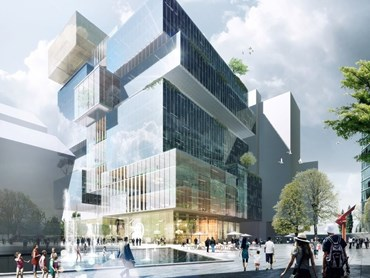 Parramatta Square, one of the largest urban renewal projects in Australia, has mandated 5-star Green Star minimum ratings for all buildings within the precinct. Image: Pinterest