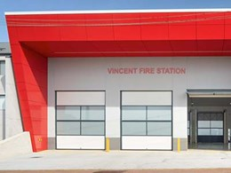 Dramatic facade on Perth fire station exterior captures attention