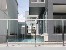 Wire balustrades on Mater Prize Home exterior combine safety with easy maintenance