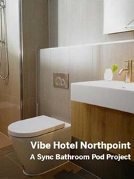 187-room North Sydney hotel refurbishment features Sync bathrooms in 16 typologies