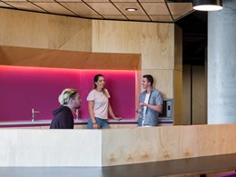 Open kitchen at Woods Bagot-designed WSU campus features Zip HydroTap