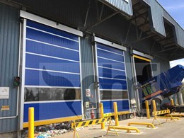 High speed doors contain odour at waste plant