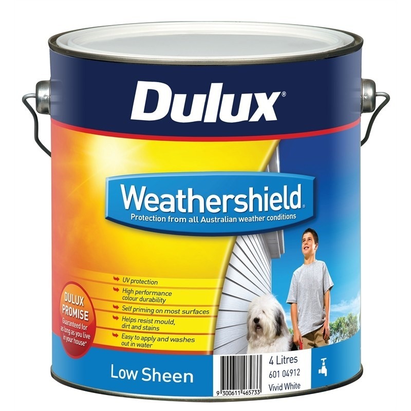 Dulux weathershield low sheen acrylic in banana boat - Weathershield exterior paint system ...