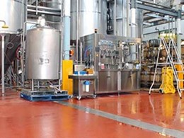 Flowfresh antimicrobial floor ensures hygienic surface at Geelong's White Rabbit Brewery