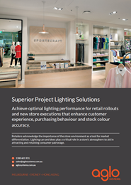 Superior Lighting Solutions; A guide to the importance of lighting in the retail space & Consumer experience