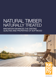 Natural timber, naturally treated