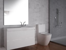 Enware's Rimless toilet incorporates a minimalist aesthetic in a cost-saving solution