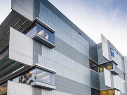 Zinc cladding minimises heat entry at QUT's 6-storey building