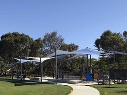 DualShade 350 shade sails complement beach ball theme of Whitfords Nodes Park