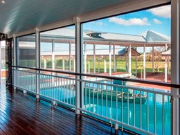Crimsafe assures cool comfort, great views and pool safety for Wirraway Homestead