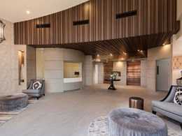 HHH Architects achieve pure luxury with a slatted timber feature