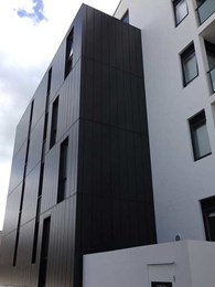 Craft Metals pre-painted aluminium cladding meets green objectives at Eastwood apartments