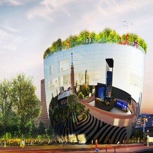 Mvrdv Wins Competition To Build Mirrored Salad Bowl Art