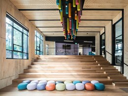 Tectura Architects' school design features decorative FR acoustic panels
