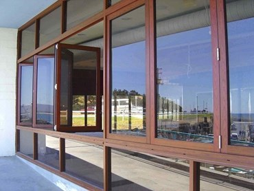 Before: The DecoWood windows at Bombora Seafood Restaurant when first installed 10 years ago.
