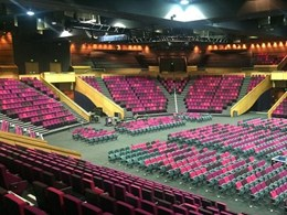 Brisbane Convention Centre seating upholstery in 3 custom colours