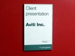 Bulletin Board Series allowing easy sign customisation with paper inserts