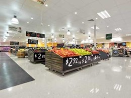 Excelon vinyl tiles allow quick return to business for Woolworths stores
