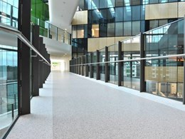 Custom flooring and wall covering supplied to Melbourne children's hospital
