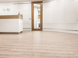 Contemporary rustic is the theme for Southern Cross Care office flooring