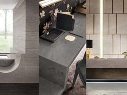 Introducing Corian with a concrete aesthetic