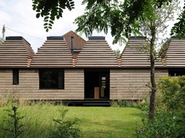 Stirling Prize shortlist: A sustainable house made of cork blocks