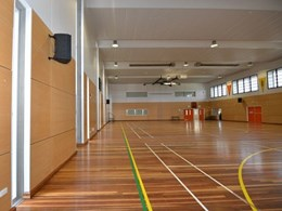 Supawood panels meet DET guidelines for school gymnasium