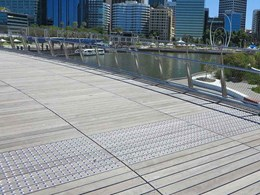 Hazard points at Perth's Elizabeth Quay feature stainless steel tactiles