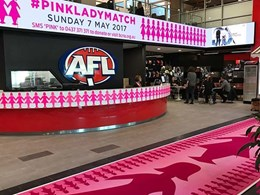 Godfrey Hirst commemorates 2017 AFL Pink Lady Match with custom pink lady runners
