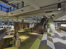 Custom carpet designed for vibrant new NSW Fire & Rescue head office