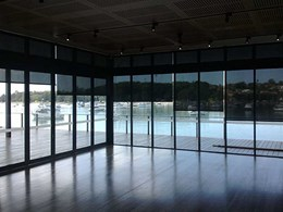 Anti glare blinds achieve glare reduction at Haberfield Rowing Club