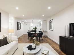 Traditional herringbone floor by Havwoods turns Ascot apartment into a luxury home