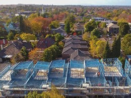 TRUECORE steel framing reduces build time on tight townhouse site