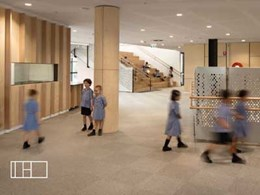 Modulyss carpet tiles match high performance design of Victoria's first vertical school