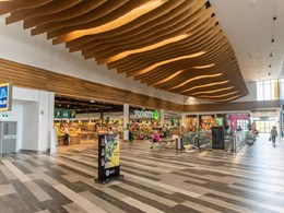 CCN Architects' WAVE BLADES ceiling a dynamic feature in suburban marketplace