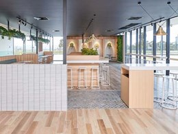 Multicolour porcelain tiles stand out in new Caltex Road House