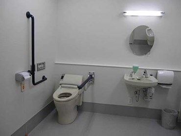 The fully equipped bathroom featuring Pressalit products