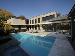Concrete and glass work in harmony at new Ivanhoe home