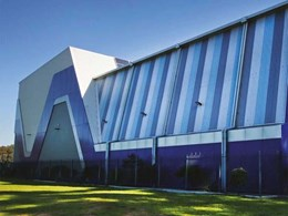 Sports facility featuring BlueScope's COLORBOND Metallic steel turns centrepiece for school