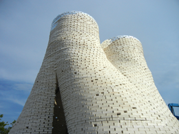 Tower made from organic mushroom-bricks opens at MoMA PS1 in New York