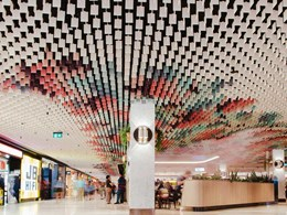 Durlum's LIVA open cell ceiling adds vibrant look to iconic Sydney retail destination
