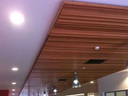 Ultraflex linear timber ceiling panels installed at new Perry Park Redevelopment in Bowen Hills, QLD