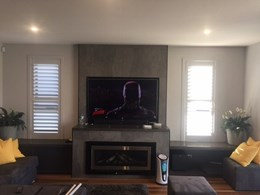 WiseWood plantation shutters installed in Sydney home for sun protection